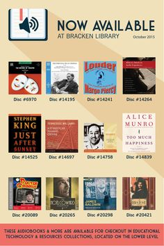 Audiobooks that are now available at Bracken Library | October 2015