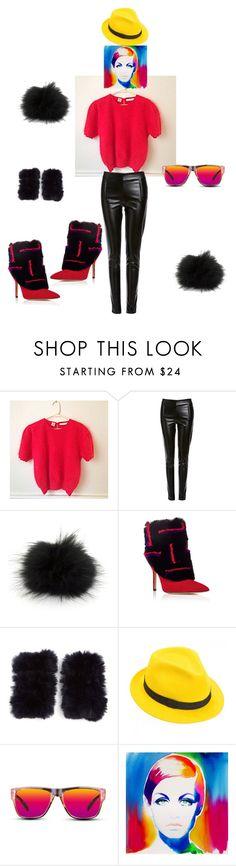 """Red Angora Sweater"" by powderholl on Polyvore featuring Six Crisp Days, Bobbl, Paul Andrew, Jocelyn, Mademoiselle Slassi, GlassesUSA, Retrò, women's clothing, women's fashion and women"