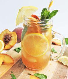 Bourbon Ginger Peach Sweet Tea