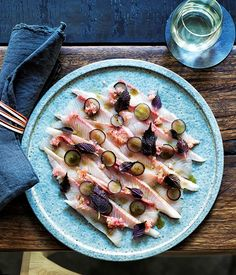 """I love to serve a raw fish dish at a family-style lunch,"" says Clayton Wells. ""It's nice and fresh so you can make it as light or as rich as you like, depending on what you use to garnish it."""