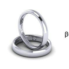 Wedding ring with platinum and diamond! Βερες από πλατίνα με διαμάντι!