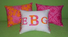 New monogram pillow made with Lilly Pulitzer TEN TON BOUQUET fabric by jlmyakima on Etsy Pink Beach, Pink Sand, Preppy Dorm Room, Pool House Decor, List Of Fabrics, Unique Gifts For Girls, Lilly Pulitzer Fabric, Crystal Garden, Monogram Pillows