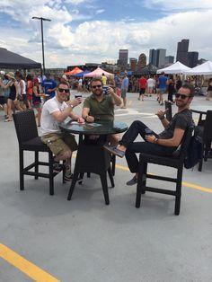 Cheers! The #HWHome rooftop lounge at the Denver Flea was THE comfy spot to relax and enjoy a drink while shopping.