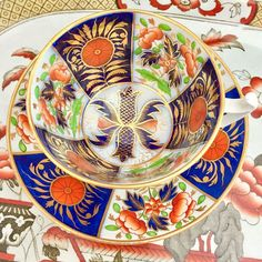 Glorious Imari... this stunning teacup from ca 1815 exemplifies the genius of early Spode teacups.