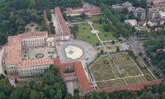 veduta aerea della villa reale