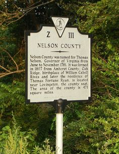 Nelson County, VA... my home.