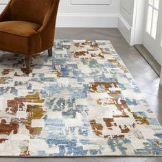 Shop Vasari Abstract Rug.  Our Vasari cut-pile rug takes an artist's approach to floor covering. #GeometricRugs
