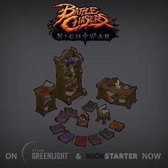 Battle Chasers: Nightwar Props!, Andy Hansen on ArtStation at…