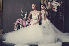 Kobus Dippenaar's Anna Georgina wedding dress collection for 2014 is filled with romance, whimsy, floral applique details, silky satin and layers of tulle. Stunning Wedding Dresses, Bohemian Wedding Dresses, Bridal Gowns, Wedding Gowns, Wedding Styles, Trendy Wedding, Whimsical Wedding, Bridal Musings, Wedding Bride