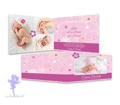 Babykarte Geburtskarte Emma von Feenstaub auf DaWanda.com