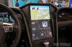 "QNX Car platform 2.0 - 17"" in-dash 1080p 512 point multitouch, 4G LTE, HTML5, video conferencing. #ios #android #blackberry"