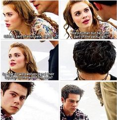 """Teen wolf de-void, the pic of Scott was cut off he was supposed to say """"they roar"""" and roar"""