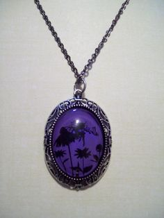 Purple & Black Fairy Pendant  Necklace goth by hairbowsideshow, $20.00
