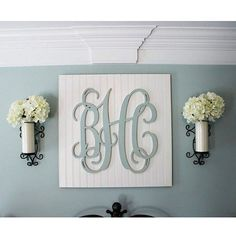 "28"" Wood Monogram Letters, Nursery Decor, Wooden Monogram, Wall Art, Large Wood monogram, Wedding Decor"