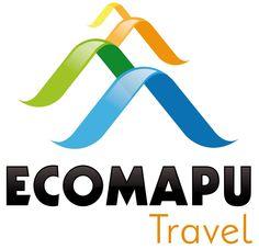 ECOMAPU logo 2 Travel Logo, Travel And Tourism, Chile Tours, Identity, Branding, Logos, Graphics, Sidewalk, Logo
