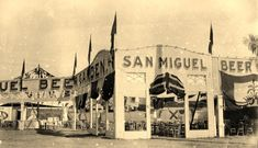 San Miguel beer garden at the Philippine Carnival (ctto) San Miguel Beer, Beer History, Beer Garden, Pinoy, Vintage Pictures, Manila, Philippines, 19th Century, Drawer