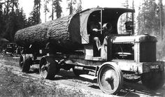Winther Logging Truck  Hard rubber tires.  Crawfordsville Oregon.