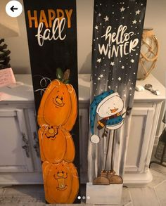 Dollar Tree Halloween Decor, Halloween Arts And Crafts, Halloween Porch, Christmas Crafts, Fall Wood Signs, Fall Signs, Wood Block Crafts, Wood Crafts, Porch Signs
