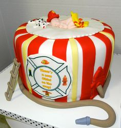 Fire Fighter Baby Shower Cake