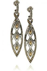 John Hardy  Large Marquise drop earrings