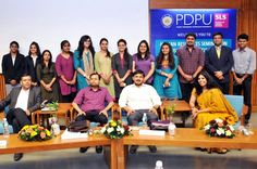 in a HR Event at PDPU for #recruitment #training to #fresh #Graduates