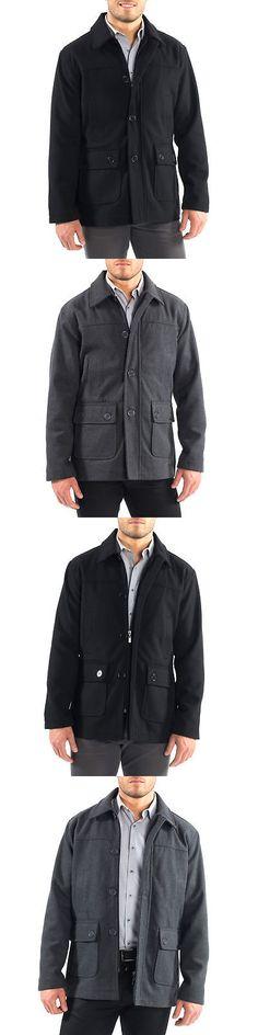 6c2e433b7d3 Suits and Suit Separates 3001  Alpine Swiss Wyat Mens Wool Blend Classic  Barn Coat Cargo