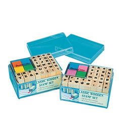 Wood Alphabet Stamps pack of 64 ** Find out more about the great product at the image link.