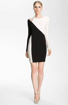 Alice + Olivia 'Josefina' Cutout Shoulder Sheath Dress available at #Nordstrom