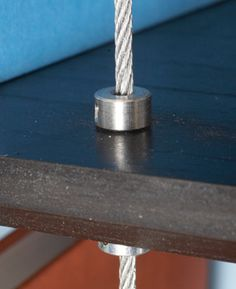 Steel cable and shaft collars add style and strength