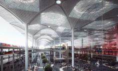 Terminal para el Aeropuerto de Estambul por Grimshaw, Nordic y Haptic.