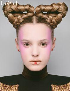 Carine Roitfeld Harper's Bazaar May issue beauty shoot | Paige Reifler | Harper's Bazaar