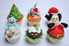 Cute Food For Kids?: 41 Cutest and Most Creative Christmas Cupcakes Christmas Sweets, Christmas Goodies, Christmas Baking, Christmas Holidays, Funny Christmas, Merry Christmas, Christmas Parties, Holiday Cupcakes, Holiday Treats