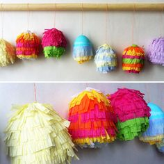 It's like an Easter fiesta! Decorating Easter eggs has been taken to the next level. Hoppy Easter, Easter Bunny, Easter Eggs, Easter Crafts, Holiday Crafts, Diy Ostern, Easter Parade, Easter Traditions, Egg Decorating