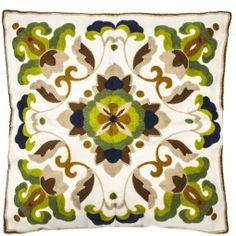 Capa de Almofada Arabescos Verde - R$ 68,00