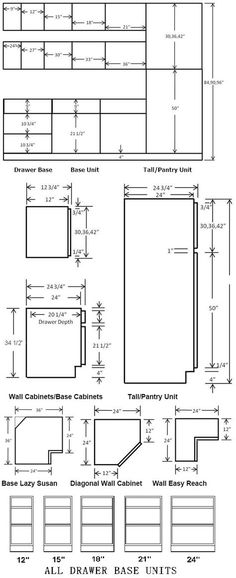 Standard Cabinet Dimensions Available From Most Suppliers Kitchen Cabinets That Sit On The Floor Are Called Base While Upper