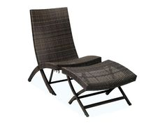 5 Patio Chair with Nesting Ottoman | Balloondir Resin Wicker Furniture, Outdoor Wicker Patio Furniture, Wicker Chairs, Patio Chairs, Outdoor Ottomans, Outdoor Lounge, Outdoor Chairs, Folding Lounge Chair, Lounge Chair Design