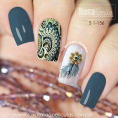 Love the bluish/ greenish color Sexy Nail Art, Sexy Nails, Glam Nails, Fancy Nails, Beauty Nails, Cute Nails, Pretty Nails, Wow Nails, Crazy Nails
