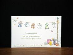 """Carte de remerciements """"Mon trousseau"""", 13 x 8,5 cm"""