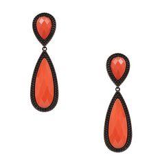 BIJOUXNET Brinco pedras gotas - laranja