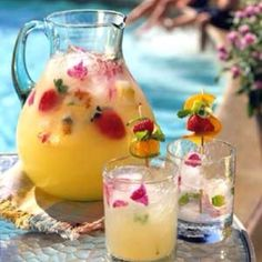 Pineappple strawberry summer drink :) Add some vodka and find me a chair! AHHHH
