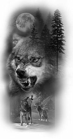 Альбомы тату эскизы Nature Tattoo Sleeve, Wolf Tattoo Sleeve, Tattoo Sleeve Designs, Half Sleeve Tattoos Drawings, Feather Tattoo Design, Wolf Tattoo Design, Wolf Tattoos Men, Animal Tattoos, Lioness Tattoo