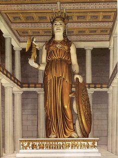 Atenea Partenos (Atenea Virgen) era una imponente escultura crisoelefantina (de oro y marfil) de la diosa griega Atenea esculpida por Fidias y erigida en el Partenón de Atenas. La obra tuvo un gran impacto entre sus contemporáneos hasta el punto de que dio origen a una tradición de estatuas crisoelefantinas para los templos y santuarios de los siglos V y IV a. C. como la estatua de Zeus en Olimpia, también obra de Fidias.