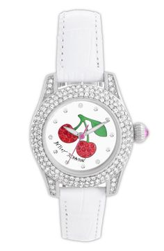 Betsey Johnson Cherry Dial Pavé Crystal Watch available at #Nordstrom Add to my cherry collection??