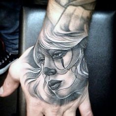 Amazing Hand Tattoos For Guys - Beautiful Girl