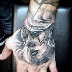 Amazing Hand Tattoos For Guys - Beautiful Girl