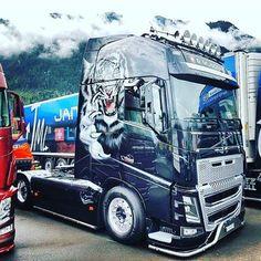 VOLVO Customised Trucks, Custom Trucks, Show Trucks, Big Trucks, Brush Truck, Truck Paint, Road Train, Engin, Volvo Trucks
