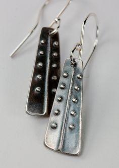 Fine Silver Pea Coat Dangles. by MyBrownWren, via Etsy.