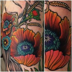 poppies by Kati Shocrylas | tattoo artist – Vancouver BC, Canada