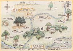 mapsontheweb:The Hundred Acre Wood and other haunts of Winnie-the-Pooh and Piglet, 1959.