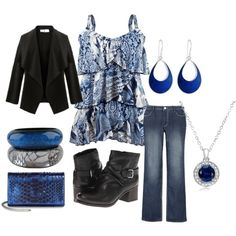 Black 'n Blue - Plus Size, created by intcon on Polyvore
